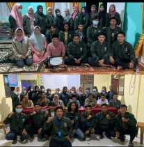 Malam perpisahan KKN kelompok 12 bersama Mitra dan Perangkat Desa Padang Luas